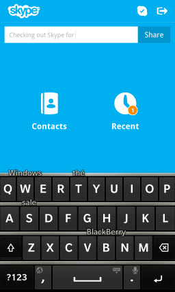 Takes full advantage of BlackBerry 10's predictive text keyboard