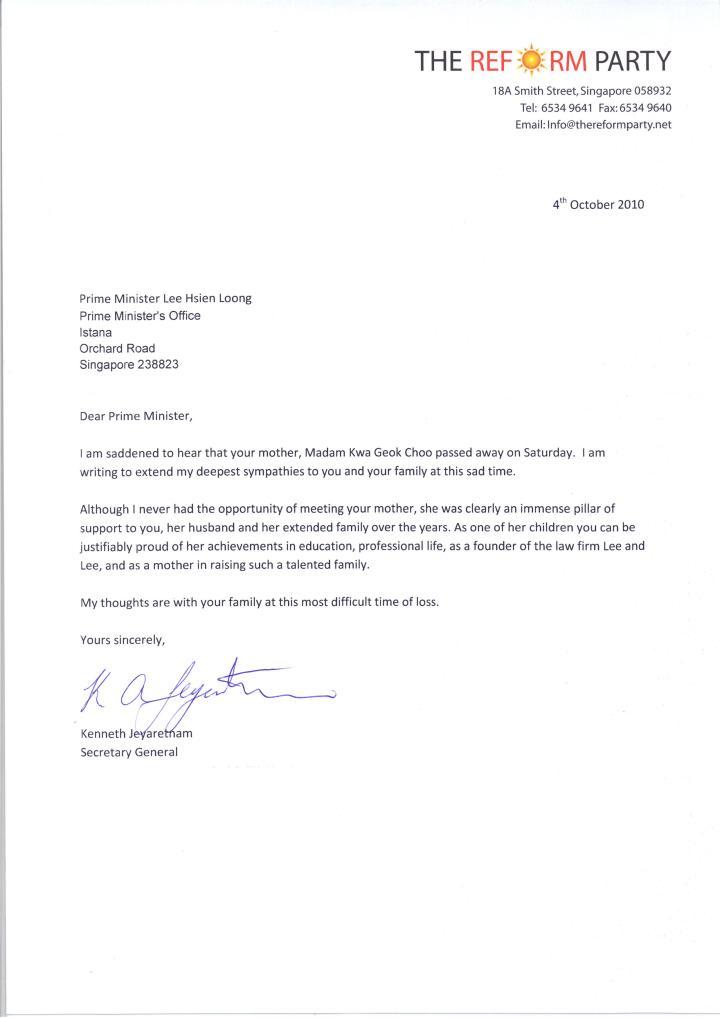 Sample Death Announcement Letter Sample