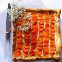Tarte fine carottes et ricotta au miel