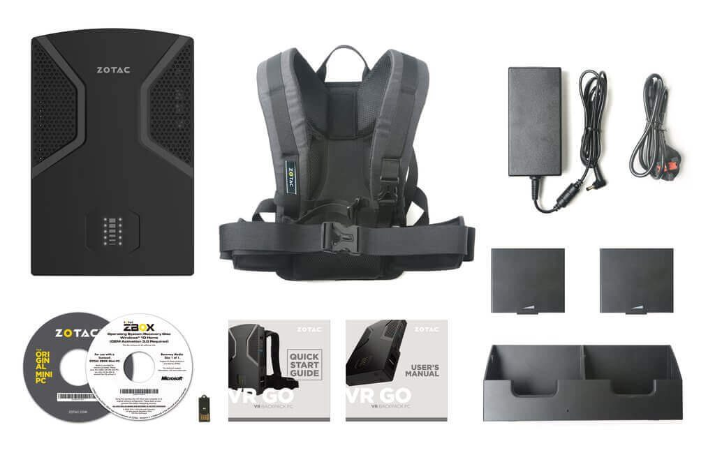 Zotac VR Go freebies and accessories