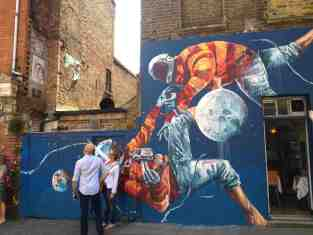 Coole grafitti in Shoreditch