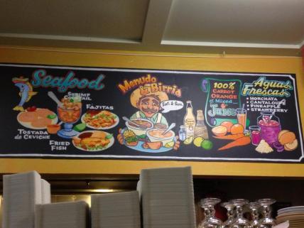 Mexican menu Polk Street SanFran