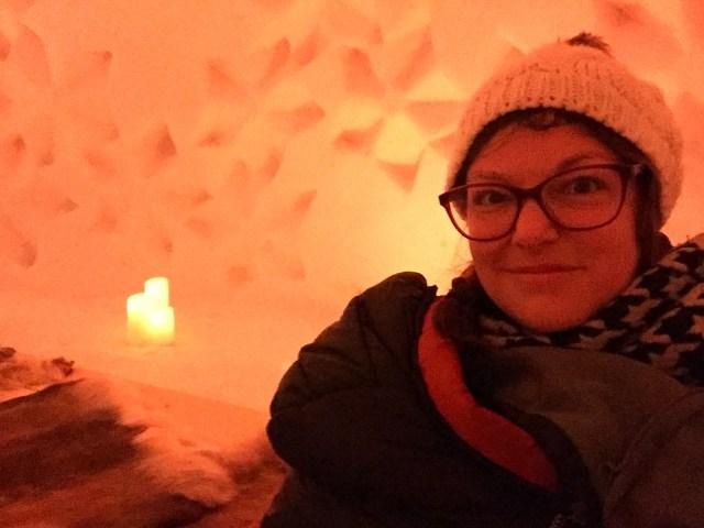 koud slapen in een iglo