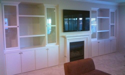 Medium Of Built In Cabinets