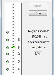 Гитарный тюнер на языке C#
