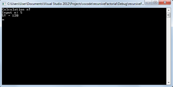 Рекурсивное вычисление факториала - vscode.ru