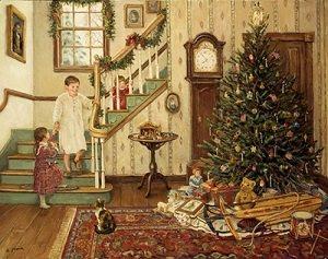 дети празднуют рождество
