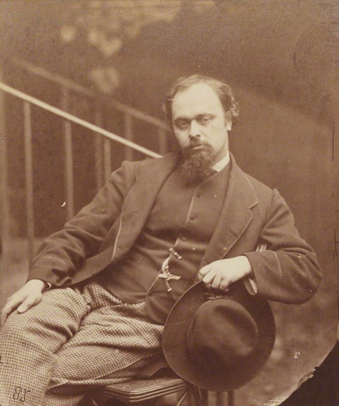 NPG P29; Dante Gabriel Rossetti by Lewis Carroll (Charles Lutwidge Dodgson)
