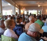 Crowd in Newport presses state officials on lakeshore regulations