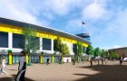 Conceptual design rendering of a UVM sports arena in South Burlington.