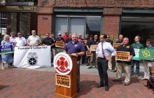 Firefighters union backs Dunne for governor