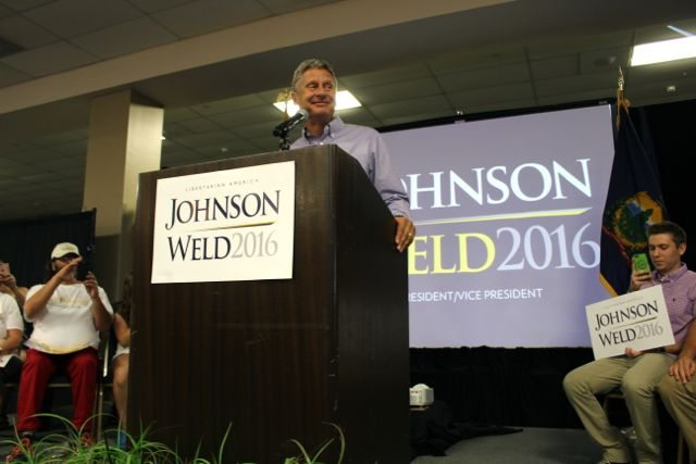 Libertarian candidate Gary Johnson in Vermont