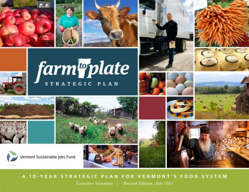 Cover from the Farm To Plate Strategic Plan. Vermont Sustainable Jobs Fund