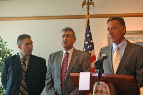 Brian Townsend, Armando Vilaseca and Peter Shumlin