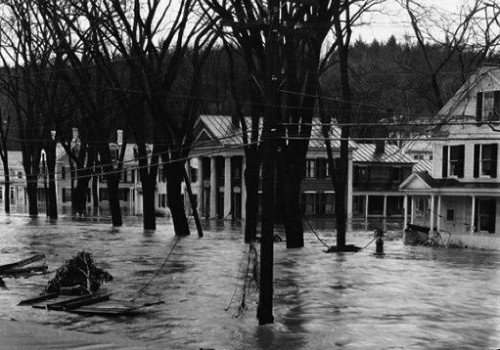 Montpelier, 1927 flood. Vermont Historical Society image