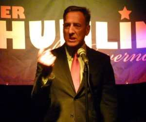 Shumlin at his 2012 campaign launch. Photo by Anne Galloway