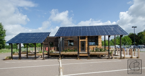 Middlebury's entry in the Solar Decathlon competition is called InSite. Courtesy of Middlebury College