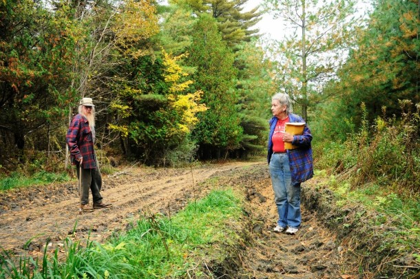 Fred and Beverly Grout hope to get their tractor running so they can take care of some remediation on their land themselves. Photo by Hilary Niles/VTDigger