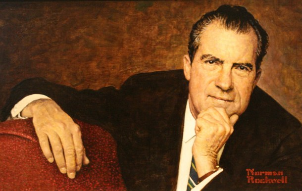 Norman Rockwell's portrait of President Richard Nixon. Creative Commons photo