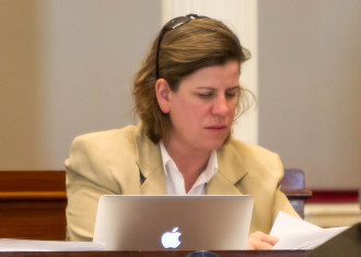 Rep. Heidi Scheuermann, R-Stowe, a member of the House Committee on Commerce and Economic Development. Photo by Roger Crowley/for VTDigger