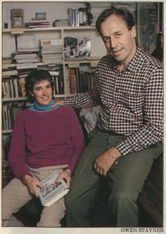 Co-founders Margo and Ian Baldwin posed for this photo for Newsweek in the 1980s when their new publishing company with a progressive focus, Chelsea Green, was in a small office in the town of the same name.