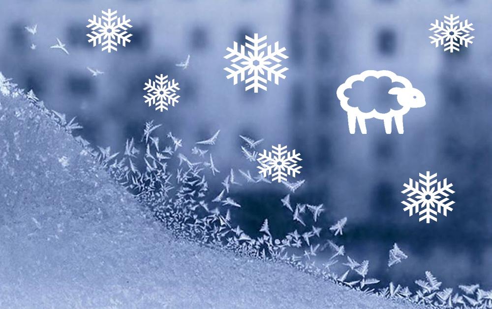 Узоры на окнах к новому году своими