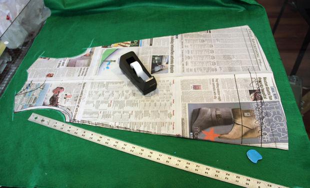Одежда своими руками из газет