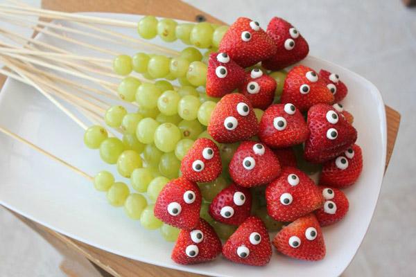 Канапе из фруктов на детский день рождения рецепты