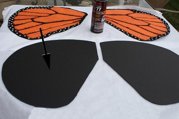 Крылья бабочки для костюма своими руками 10