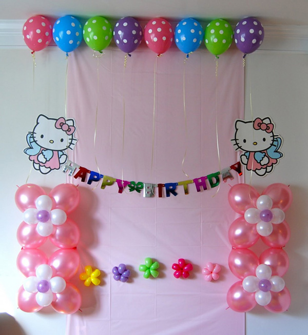 Украшение дня рождения шарами своими руками