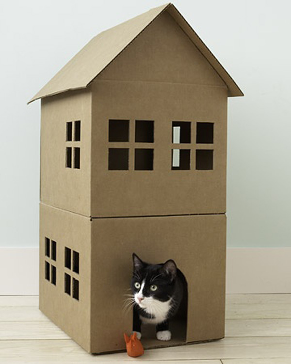 Коробки для кошек своими руками