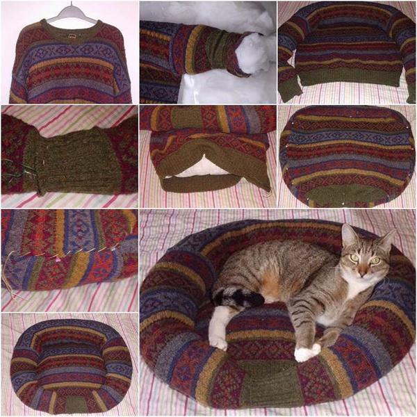 Лежанка из свитера своими руками фото 193