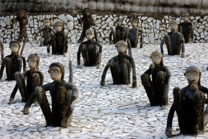 nek chand rock garden monkeys