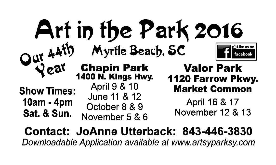 Art in the Park magnet black & white 2 12 16