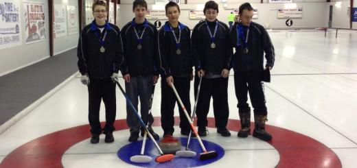 Dustin Mikush, Leevi Sowa, James Rutko, Tyler Flemming and Darian Faubert recently won silver medals at Horizon School Division's junior district playoffs in Watrous.