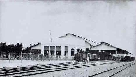 Stasiun Tugu tahun 1887 Foto Foto Kota Jogja Tempo Doeloe