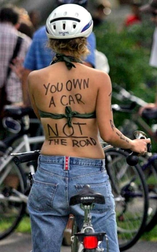You own a car not the road