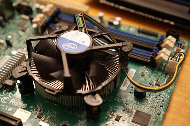The stock heat sink and fan