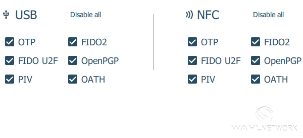 You can control what each YubiKey interface provides, if desired.