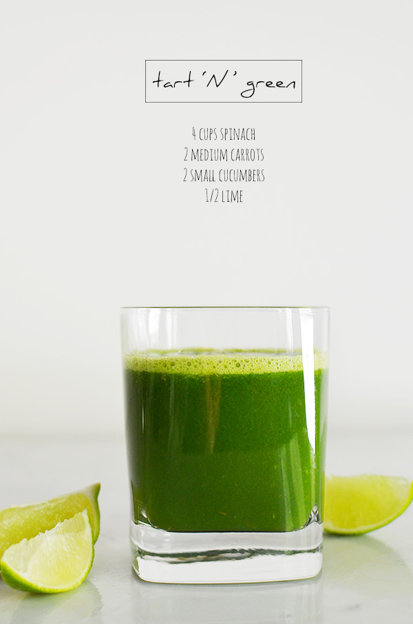 Tart 'N' Green, Juice Recipes from Waiting On Martha