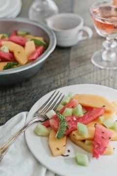 The perfect summer fruit salad: Lavender Ginger Melon Salad