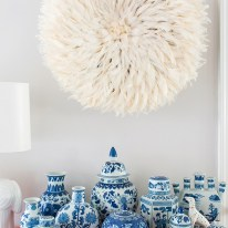 Entryway styling inspiration via Waiting on Martha