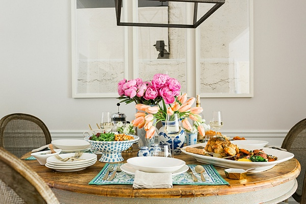 Weeknight dinner table inspiration via Waiting on Martha