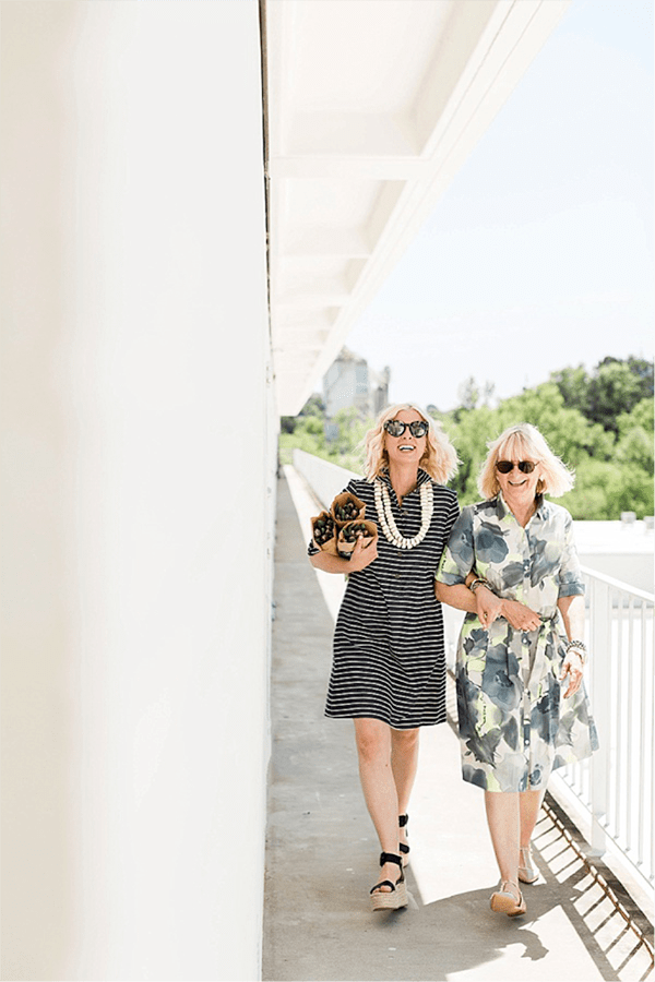 Stripe shirtdress for Mother's Day, Waiting on Martha