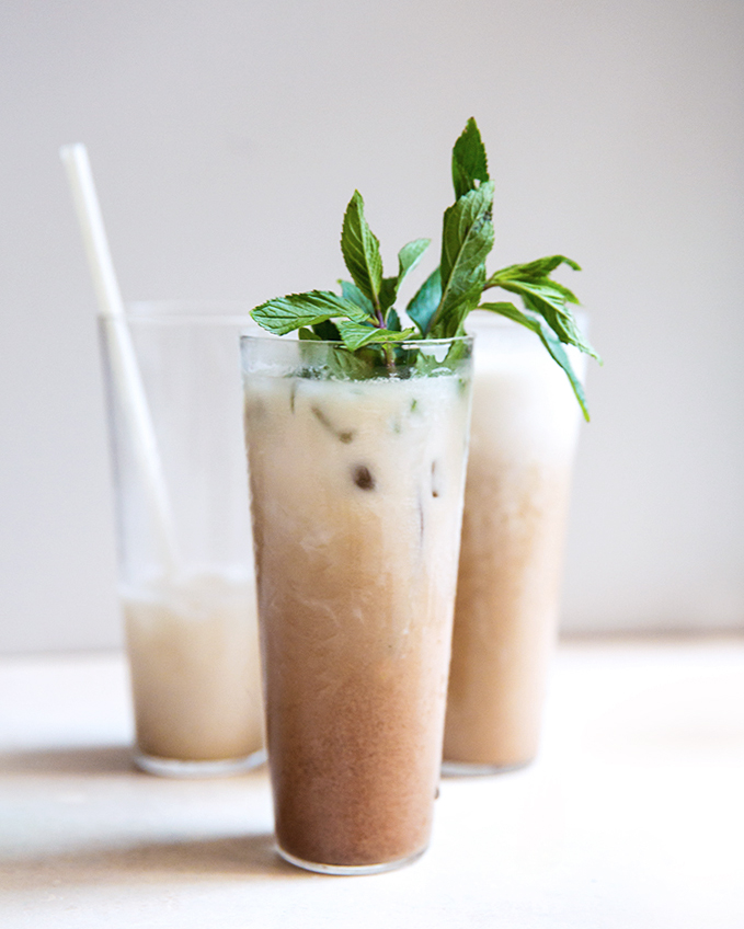 Hibiscus Vanilla Thai-Styled Iced Tea