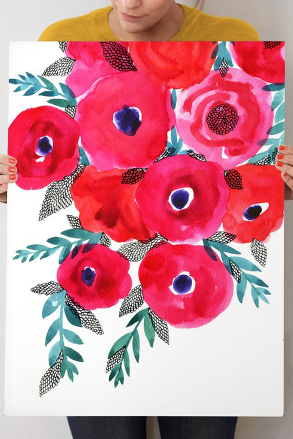 """""""Red Flowers Bouquet"""""""