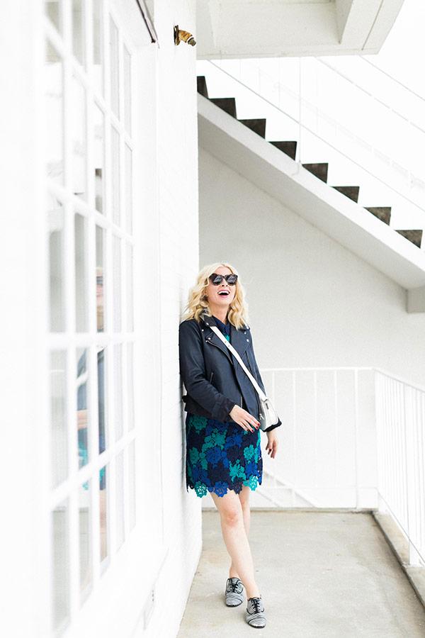 A Blue Lace Dress by Waiting On Martha