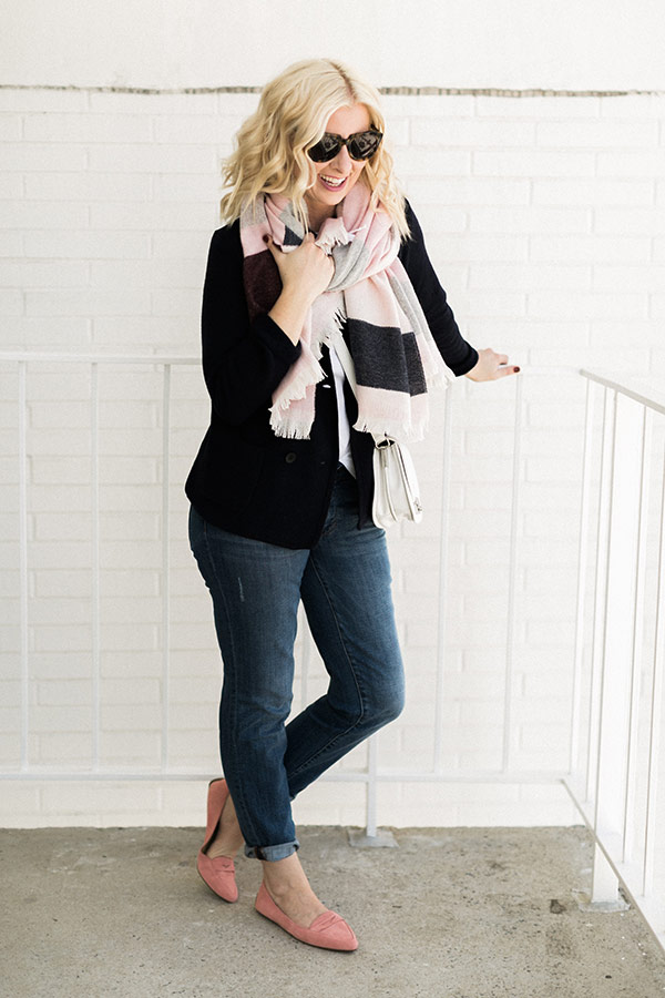 Blanket scarf outfit, waitingonmartha.com