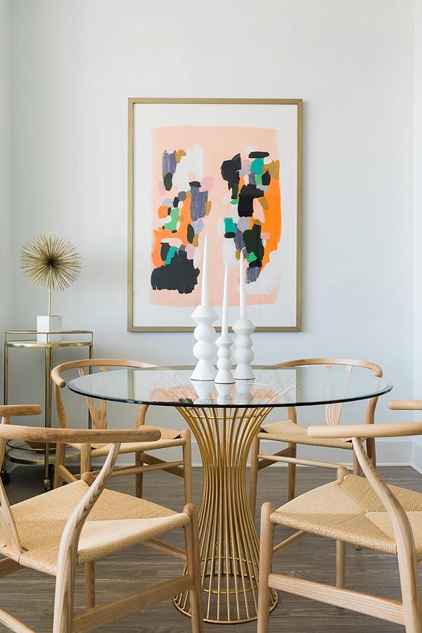 Feminine glam dining room, @waitingonmartha one room challenge