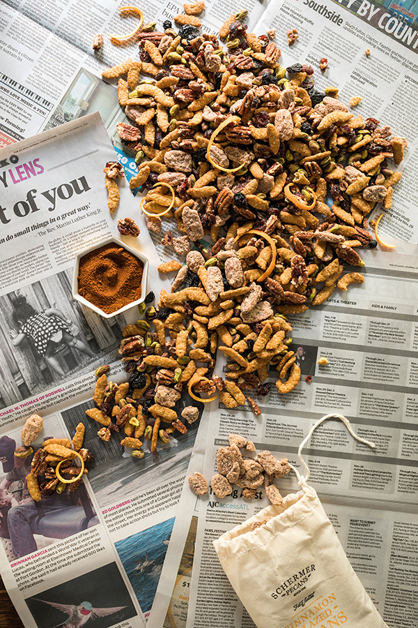 Homemade trail mix with pecans, pistachios, sesame sticks & more - recipe by @waitingonmartha